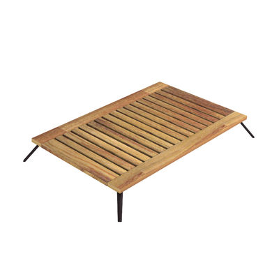 Table basse Welcome / 139 x 83 cm - Teck - Unopiu bois naturel en bois