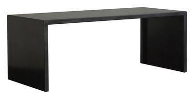 Back to school - Office furniture - Big Irony Desk Table - L 160 cm by Zeus - Black phosphated steel - 160 x 75 cm - Phosphated steel