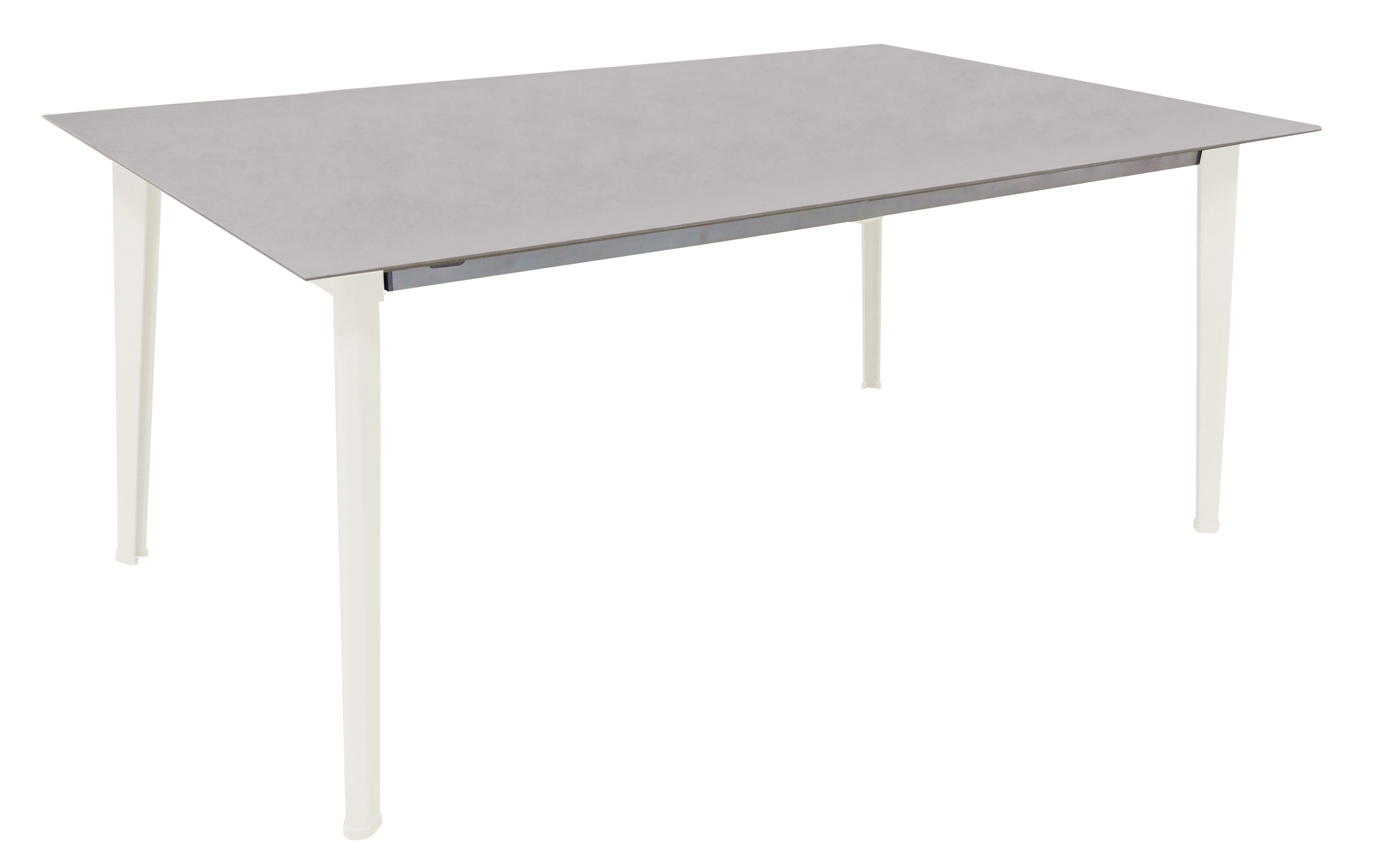 Jardin - Tables de jardin - Table Kira / Plateau grès émaillé - 100 x 180 cm - Emu - Blanc - Aluminium, Grès