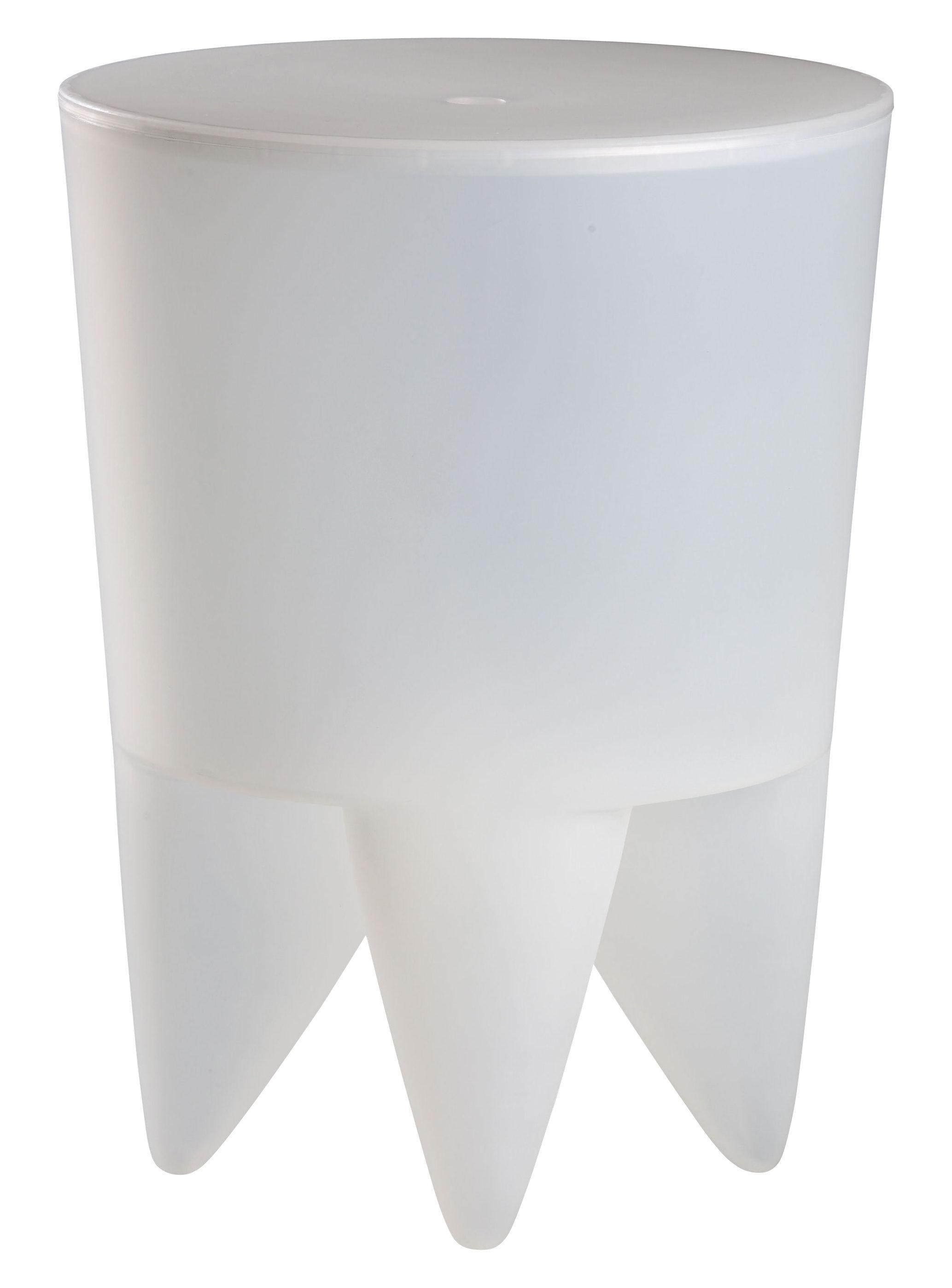Mobilier - Mobilier Ados - Tabouret New Bubu 1er / Coffre - Plastique - XO - Blanc translucide - Polypropylène