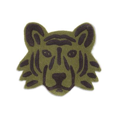 Tapis Tigre / Décoration murale - 66 x 57 cm - Ferm Living vert en tissu