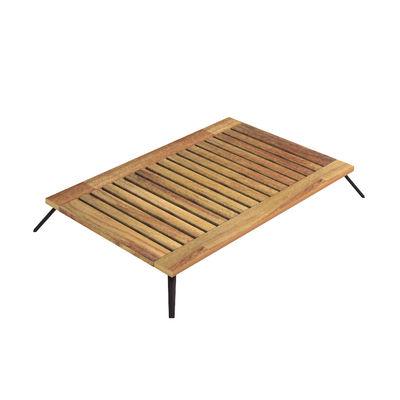 Arredamento - Tavolini  - Tavolino Welcome - / 139 x 83 cm - Teck di Unopiu - 139 x 83 cm / Teack - Alluminio, Teck