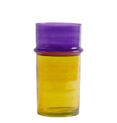 Déco - Vases - Vase Moroccan Large / Ø 14 x H 29 cm - Hay - Jaune & violet - Verre soufflé recyclé