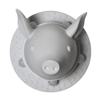 Porcamiseria Wandleuchte / Keramik-Schwein - Ø 40 cm - Karman - Weiß