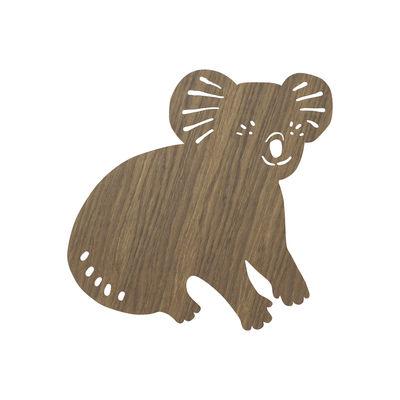 Applique avec prise Koala / Chêne - Ferm Living chêne fumé en bois