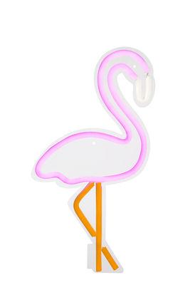 Applique avec prise Neon Flamant rose Small / LED - H 40 cm - Sunnylife rose en verre