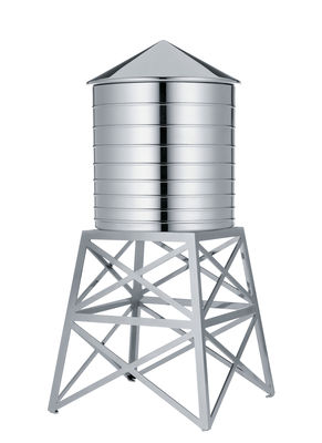 Kitchenware - Kitchen Storage Jars - Water Tower Box by Alessi - Steel - Stainless steel