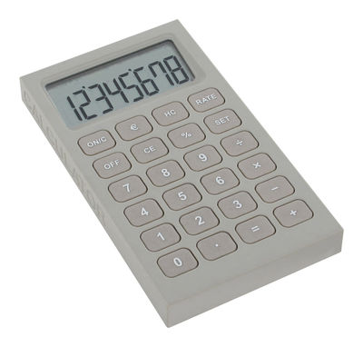 Déco - Accessoires bureau - Calculatrice Buro - Lexon - Gris - ABS finition soft touch