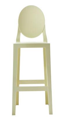 Chaise de bar One more / H 65cm - Plastique - Kartell jaune en matière plastique