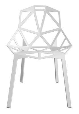 Chaise Empilable Chair One Mtal Blanc Pieds Blancs