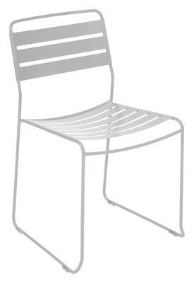 Mobilier - Chaises, fauteuils de salle à manger - Chaise empilable Surprising / Métal - Fermob - Gris métal - Acier