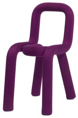 Mobilier - Chaises, fauteuils de salle à manger - Chaise rembourrée Bold / Tissu - Moustache - Violet - Acier, Mousse, Tissu