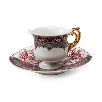 Tableware - Coffee Mugs & Tea Cups - Hybrid Sagala Coffee cup - / Coffee cup + saucer set by Seletti - Sagala - China