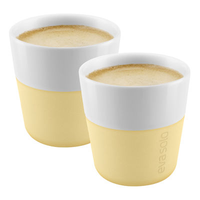 Tableware - Coffee Mugs & Tea Cups - Espresso cup - / Set of 2 - 80 ml by Eva Solo - Frosted lemon - China, Silicone