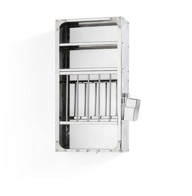 Mobilier - Compléments d'ameublement - Etagère Indian Medium / Vaisselier - L 38 x H 78 cm - Hay - Small / Acier - Acier inoxydable