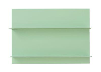 Etagère murale Paper / L 42 x H 29 cm - Design Letters vert en métal/bois