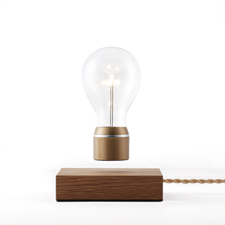 lampe de table flyte royal flyte - or / base chêne - l 150 x h 3