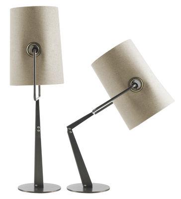 Lampe de table Fork - Diesel with Foscarini marron,ivoire en tissu
