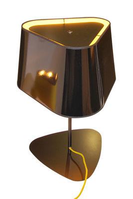 Lampe de table Grand Nuage H 62 cm - Designheure jaune,noir laqué en matière plastique