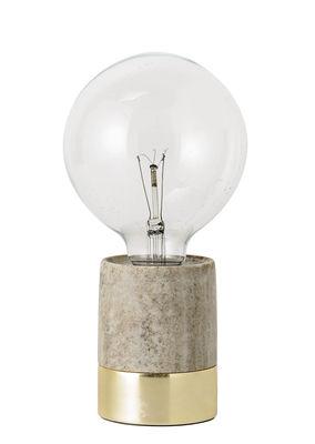Lampe de table / Marbre & métal - Bloomingville or,beige en pierre
