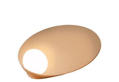 Lampe de table Musa / Rechargeable - Ø 26 cm - Vibia laqué saumon mat en métal