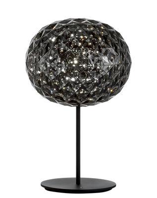 Lampe de table Planet / LED - H 53 cm - Kartell noir,gris fumé en matière plastique