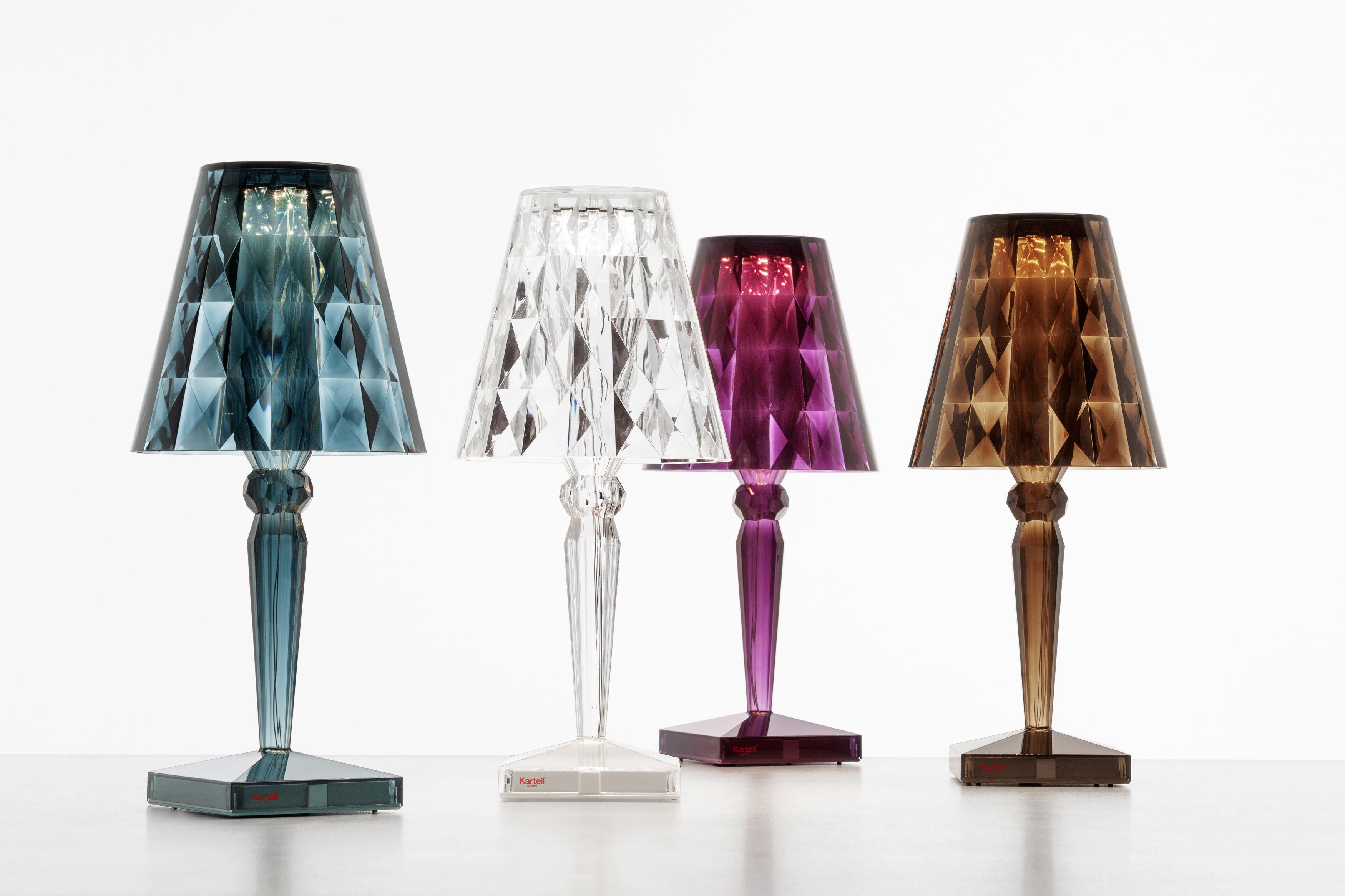 lampe ohne kabel big battery led von kartell cristal h. Black Bedroom Furniture Sets. Home Design Ideas