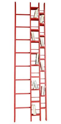 Arredamento - Scaffali e librerie - Libreria Hô - Larghezza 64 cm di La Corbeille - Rosso - Faggio laccato