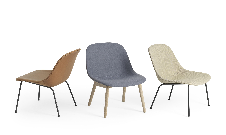 Fiber Lounge Lounge Sessel Gepolstert Lederbezug Stuhlbeine