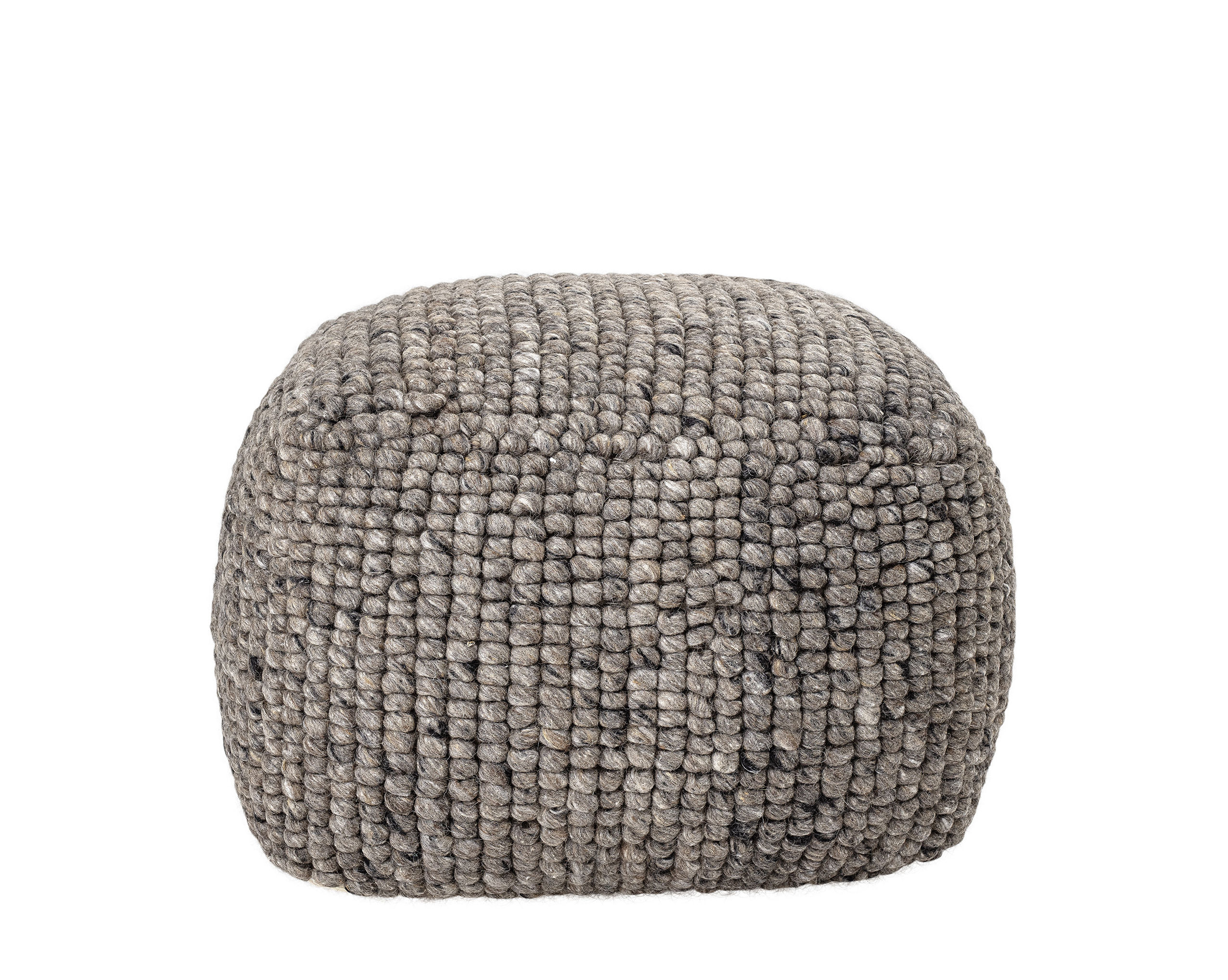 Furniture - Poufs & Floor Cushions - Boston Pouf - / Wool by Bloomingville - Grey - Wool
