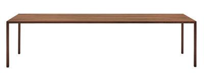 Furniture - Dining Tables - Tense Material Rectangular table - / 90 x 220 cm - Walnut by MDF Italia - Walnut - Composite panel, Solid oak veneer, Steel