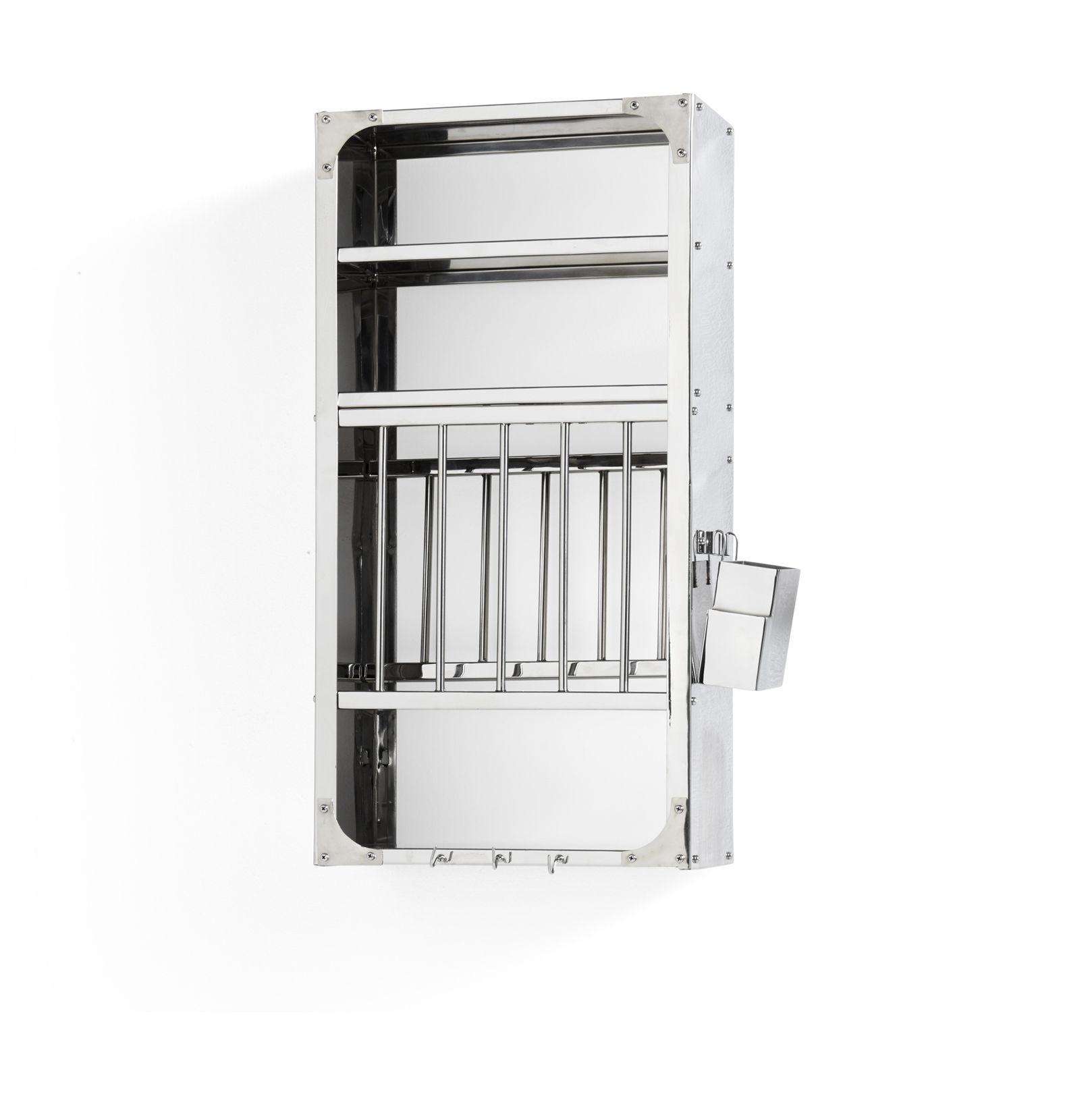 Möbel - Beistell-Möbel - Indian Medium Regal / Geschirrschrank - L 40 cm x H 78 cm - Hay - Klein / Stahl - rostfreier Stahl
