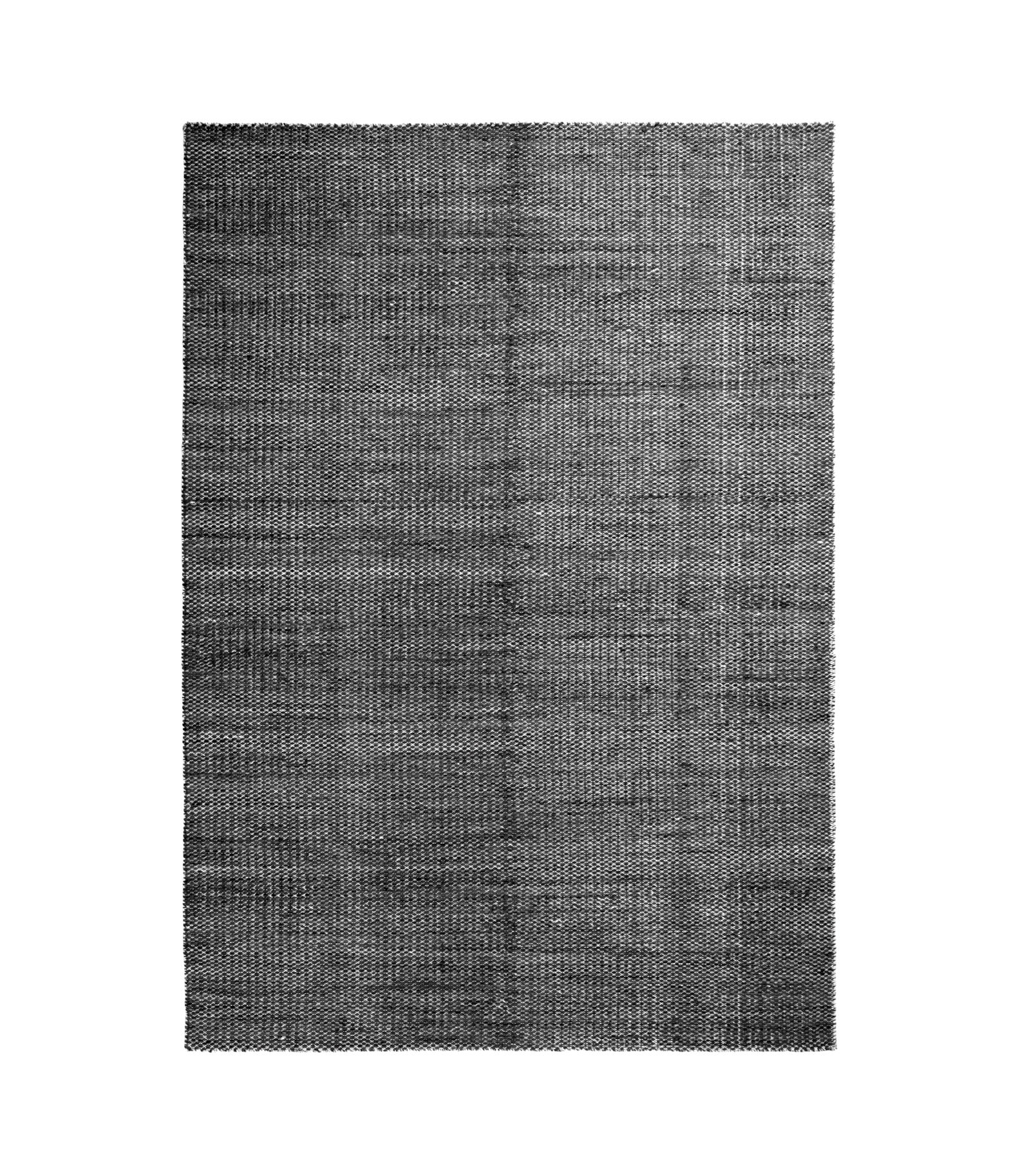 Decoration - Rugs - Moiré Kelim Small Rug - / Handwoven - 140 x 200 cm by Hay - Black - Wool