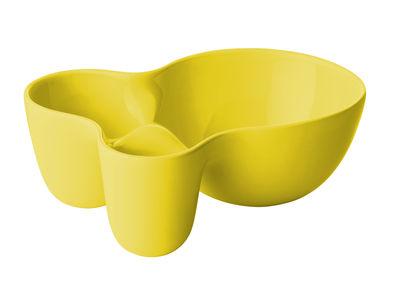 Tischkultur - Salatschüsseln und Schalen - Vitamin Small Schale / 3 Fächer - Muuto - Gelb - Fayence