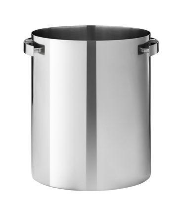 Tavola - Bar, Vino, Aperitivo - Secchiello da champagne Cylinda-Line - / Arne Jacobsen, 1967 di Stelton - Acciaio - Acciaio inox smaltato