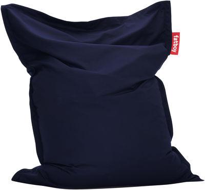 Möbel - Möbel für Teens - The Original Outdoor Sitzkissen für den Außeneinsatz - Fatboy - Marineblau - Polyacryl-Gewebe, Polystyrol-Perlen