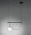 Suspension nh S1 / Globe Ø 14 - L 58 cm - Artemide