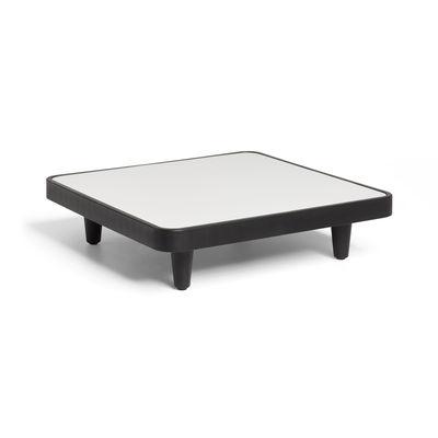 Mobilier - Tables basses - Table basse Paletti / 90 x 90 cm - Fatboy - Gris clair - Aluminium, Polyéthylène recyclé