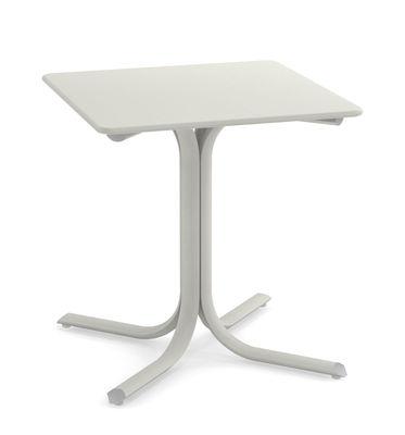 Table carrée System / 70 x 70 cm - Emu blanc en métal