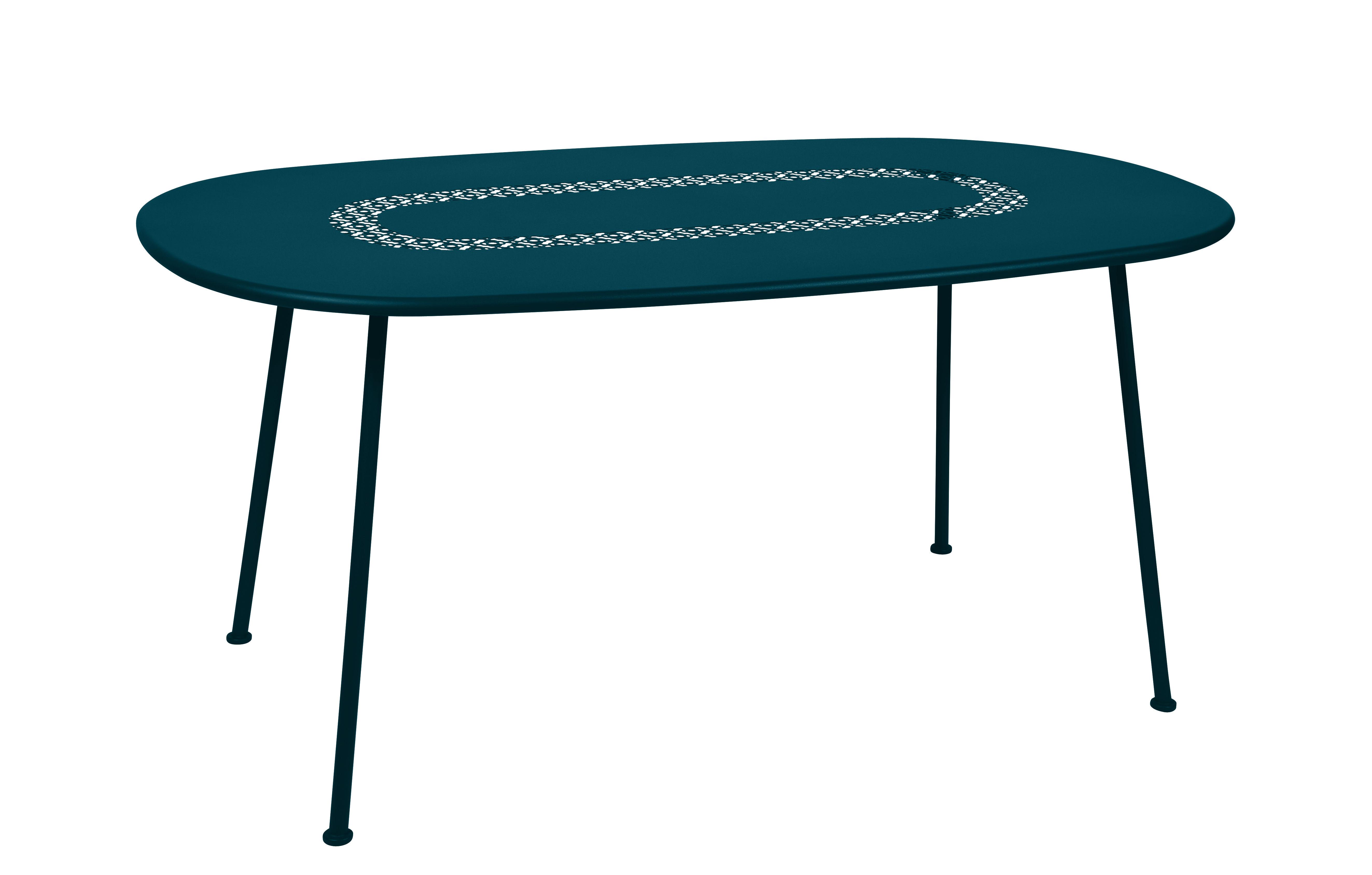 Table ovale Lorette Fermob - Bleu Acapulco - L 160 x l 90 x h 74 ...