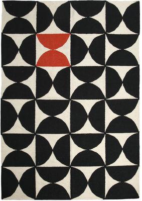 Tapis Alpha Kilim / 200 x 300 cm - Sentou Edition blanc,rouge,noir en tissu