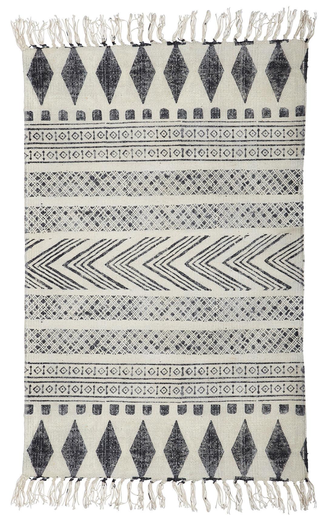 Déco - Tapis - Tapis Block / 90 x 200 cm - House Doctor - Block / gris & noir - Coton