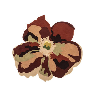 Déco - Tapis - Tapis Flora - Bloom 2 / By Santoi Moix - 150 x 170 cm / Laine - Nanimarquina - Bloom 2 / Multicolore - Laine vierge