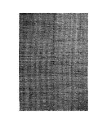 Tapis Moiré Kelim Small / 140 x 200 cm - Tissé main - Hay blanc,noir en tissu