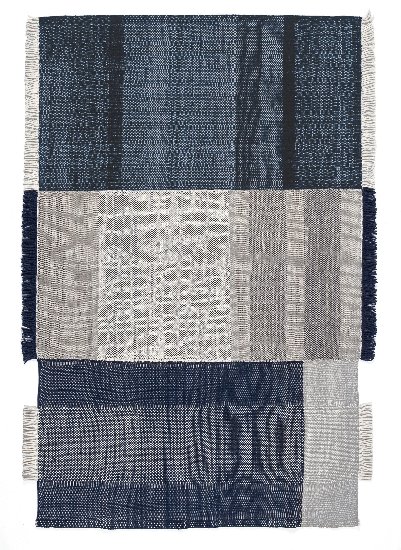 Tapis Tres / 200 x 300 cm - Nanimarquina bleu en tissu