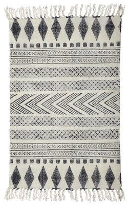 Interni - Tappeti - Tappeto Block - /90 x 200 cm di House Doctor - Block / grigio e nero - Cotone