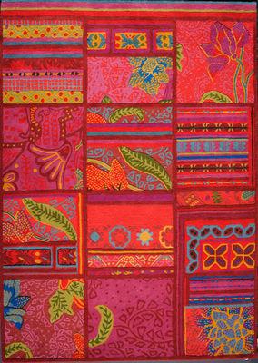 Interni - Tappeti - Tappeto Raja by Florence Bourel / 170 x 240 cm - Lavorato a mano - Toulemonde Bochart - Multicolore - Lana, Soie végétale