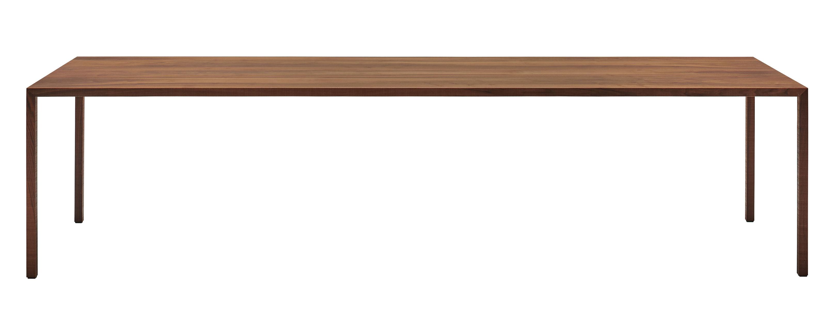 Arredamento - Tavoli - Tavolo rettangolare Tense Material - / 90 x 220 cm - Noce di MDF Italia - Noce - Acciaio, Pannello composito, Placage noyer massif