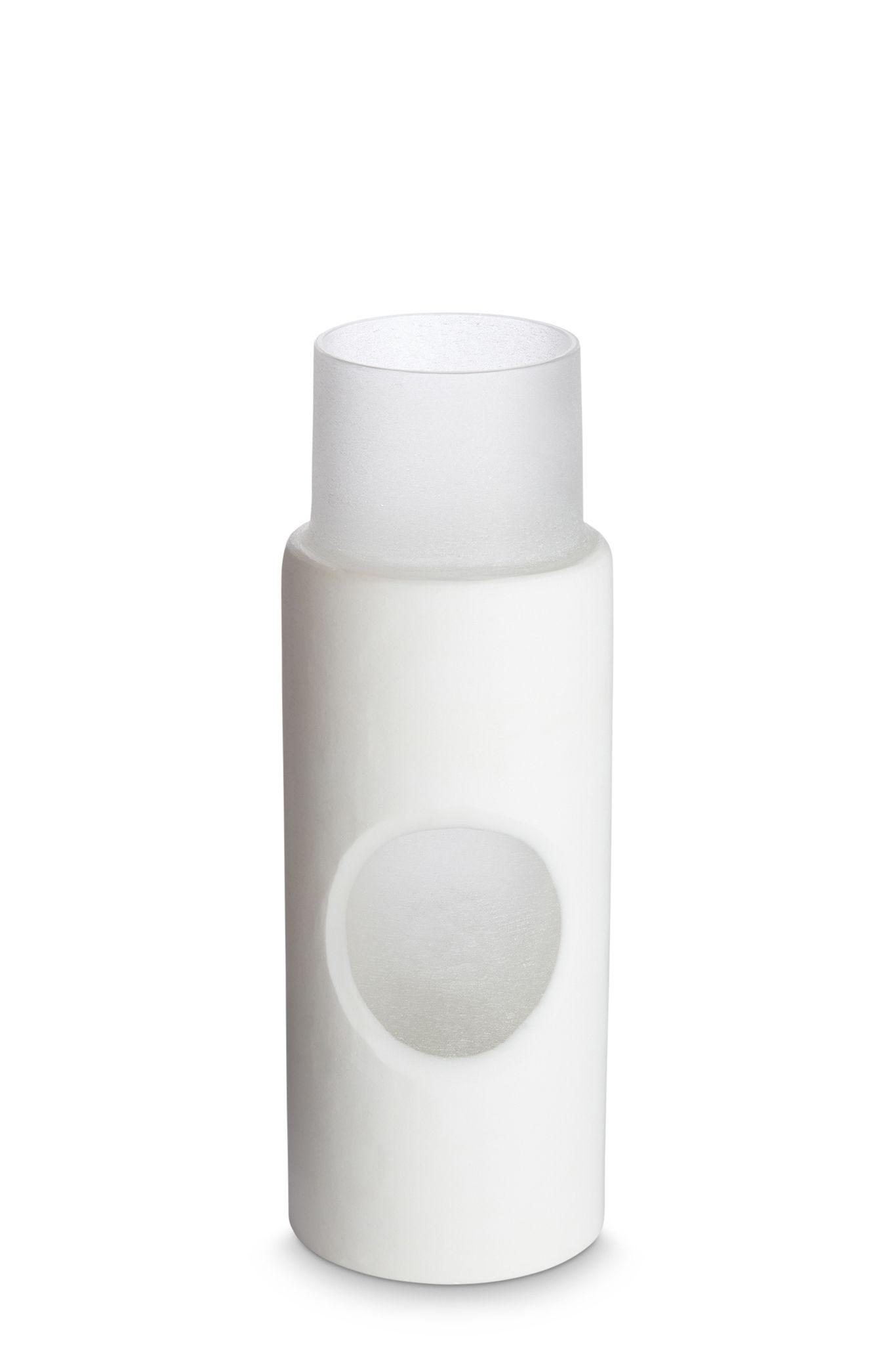 Déco - Vases - Vase Carved Small / Ø 7,5 x H 23 cm - Tom Dixon - Blanc - Verre soufflé bouche