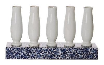 Decoration - Vases - Delft Blue 5 Vase by Moooi - White & blue - China